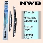 "NWB GRAPHITE WIPER BLADE AQUA JAPAN (17""+24"")(LANCER GT,INSPIRA,RAV4)"