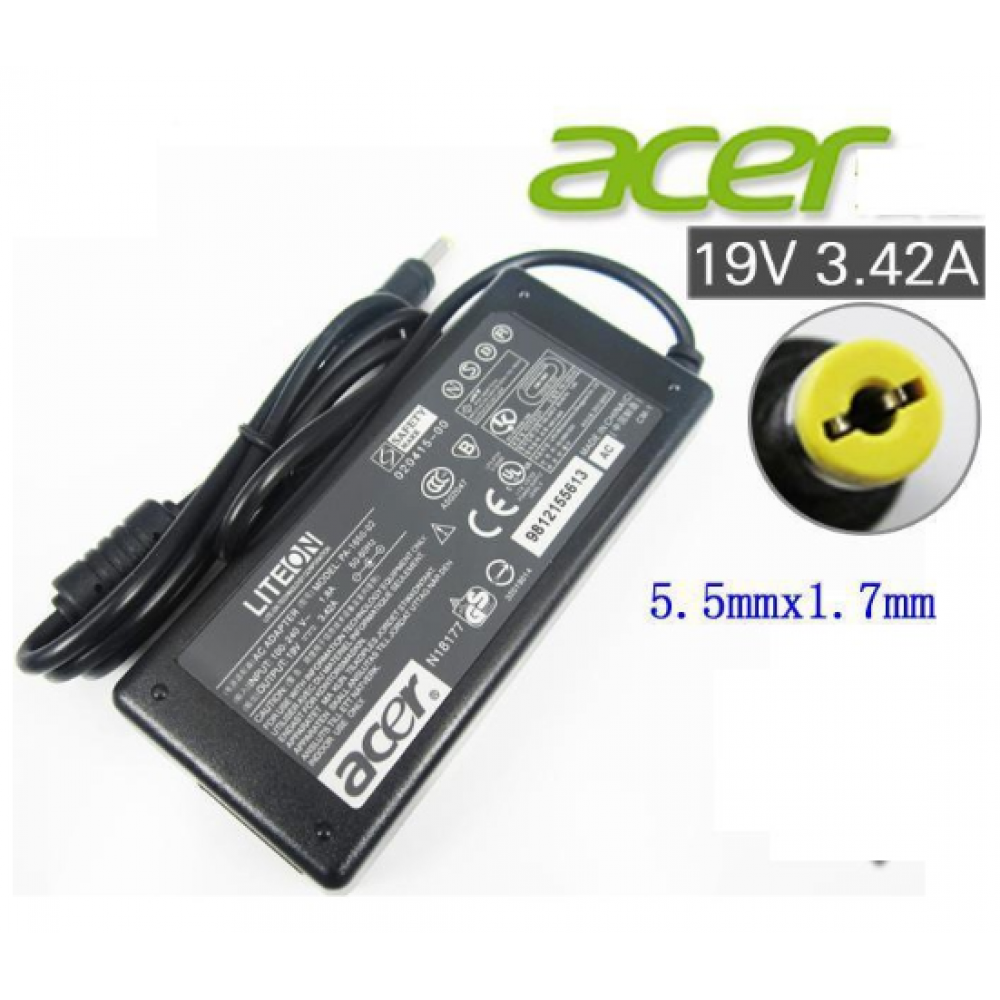 NEW Acer Aspire Power Adapter Charger with with FREE 3 pin plug power cord 5735z 5736z 5570 5730Z 4315 4715Z 5736Z 5550 4743 4745 4745G 4740 4740G 4741 4741G 4738 4738G 4738Z 4736 4736G 4736Z 1200 1410 1680 TM211T 212T 5315 5734Z 5735 5920 4315