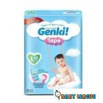 Genki Tape diaper S82/M75/L62/XL48 (1 pack)