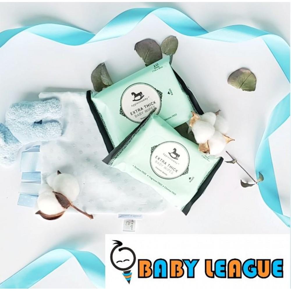 Applecrumby & Fish Extra Thick Premium Baby Wipes 10s x 1