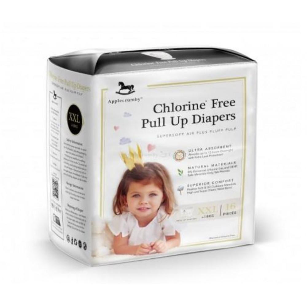 Applecrumby & Fish Chlorine Free Premium Baby Pull Up Diaper  XXL16 x 1