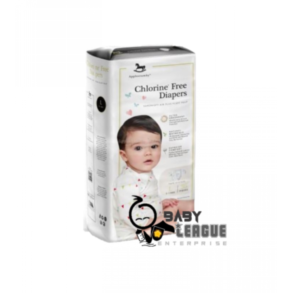 Applecrumby Chlorine Free Premium Baby Diapers L36 x 1