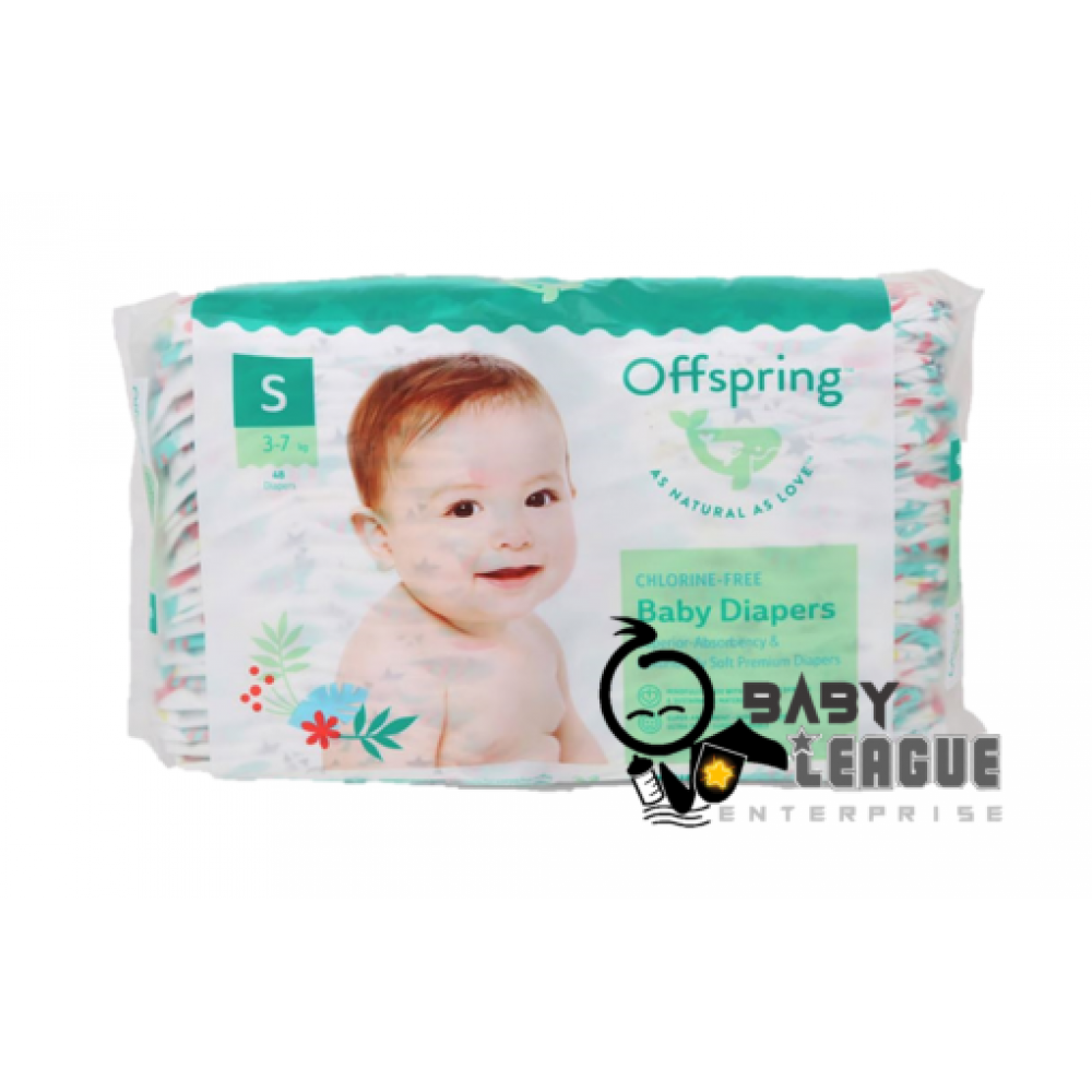 Offspring Fashion tape diaper S48/M42/L36/XL30 (Random design)