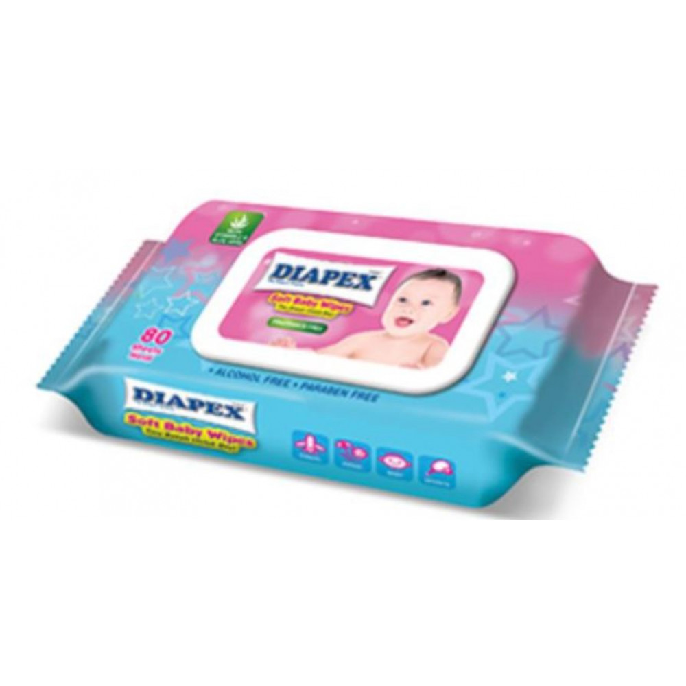 DIAPEX Soft Baby Wipes 80s x 1