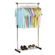 image of Adjustable Stainless Steel Single Pole Garment Rack