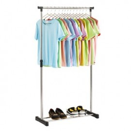 image of Adjustable Stainless Steel Single Pole Garment Rack