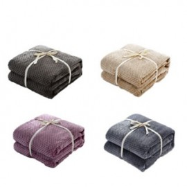 image of Mesh Blanket Queen Size - Smoke Blue/Purple/Brown/Camel