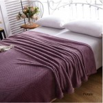 Mesh Blanket Queen Size - Smoke Blue/Purple/Brown/Camel