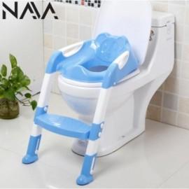 image of Adjustable Ladder Children Toilet Bowl Potty Training Kit - Blue/Pink