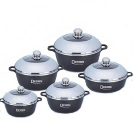 image of Dessini Aluminium Die-Cast Soup Pot Casserole Imperial Set (10 Pcs)