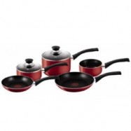 image of Tefal Bistro Cookware Set (5 Pcs) - Red