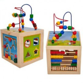 image of Children Wooden Multi Sides Learning Beads
