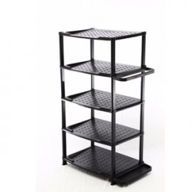 image of Simple 5-Tier Shoe Rack - Black