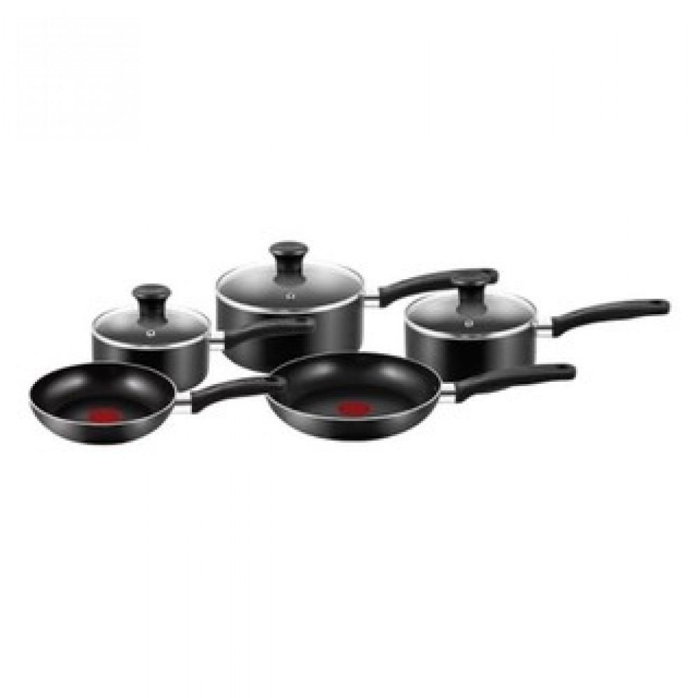 Tefal Essential Cookware Set (5 Pcs) - Black
