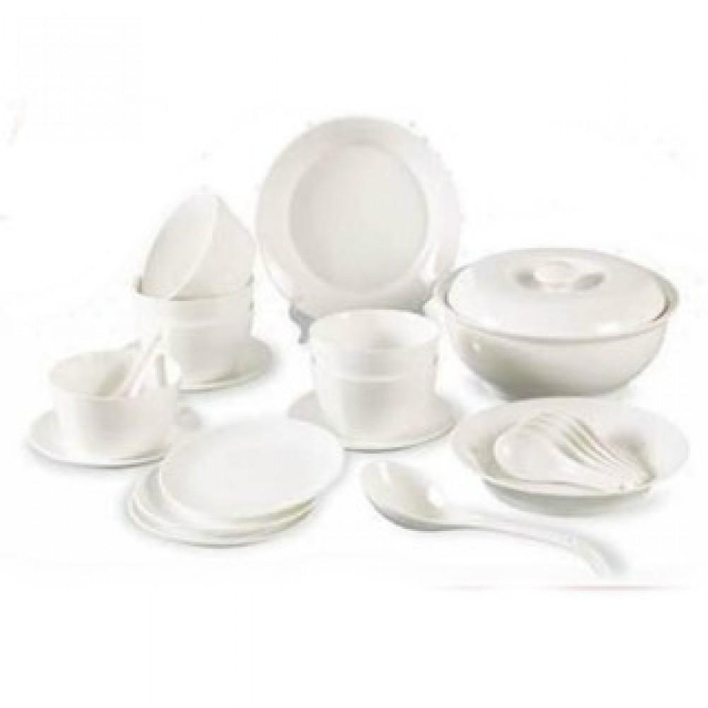 Elegant Ceramic Porcelain Dinnerware Set (23 Pcs)