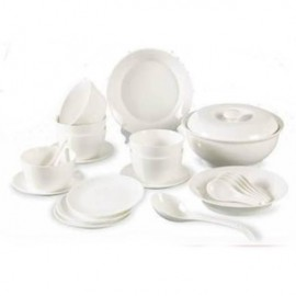 image of Elegant Ceramic Porcelain Dinnerware Set (23 Pcs)