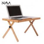 Convenient Portable Wooden Mini Adjustable Bed Table Set