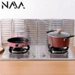 Kitchen Foldable Aluminium Foil Easy Clean Kitchen Cooking Cover (84cm)