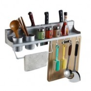 image of Aluminium Kitchen Storage Rack / Knife Rest (60cm)