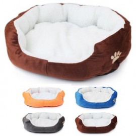 image of Portable Soft Pet Bed (50cm) - Grey/Orange/Coffee/Blue