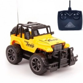 image of Children Electronic 4-Way Remote Control RC Super Jeep Toy Car - Yellow/Red