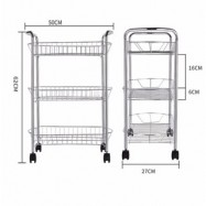 image of Modern Home Kitchen 3-Layer Multipurpose Stainless Steel Rack