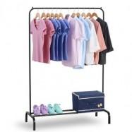 image of Folding Single Rod Clothing Hanger Rack