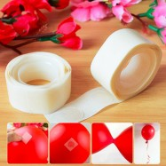image of 100pcs Balloon Double-Sided Glue Point Tape For Foil Latex Inflated Balloon