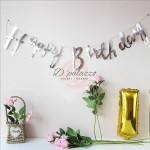 Happy Birthday Bunting Banner Glider gold Letter Bronzing Birthday Banner
