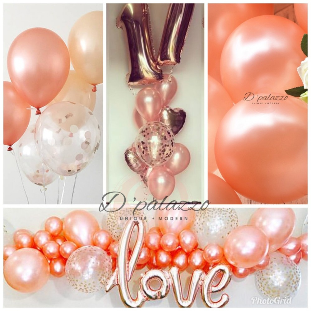 12' inch 3.2g Thicken Rose Gold / Champagne Color Balloon Pearl Latex 10/20/50
