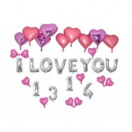 image of I LOVE YOU 1314 Wedding Proposed & Valentine Balloon Set