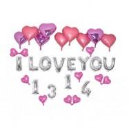 image of I LOVE YOU 1314 Wedding Proposed & Valentine Balloon Set