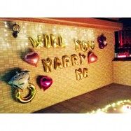 image of Will You Marry Me Propose Balloon Decoration Set Valentine Best Selling Hot Item
