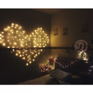 image of Romantic LED Light Love Shape LED Fairy Light Heart Shape LED Curtain Light