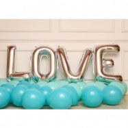 image of (Ready Stock)LOVE Tiffany Blue & Lake Blue Balloon Decoration Balloon Set