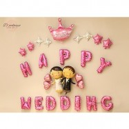 image of Happy Wedding Sweet Day We Are Married Wedding Party Decoration