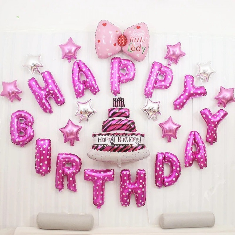 Happy Birthday Balloon Set Decoration Party For HER