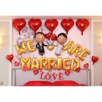 (Ready Stock) We Are Married Wedding Party Decoration