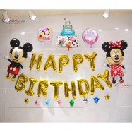 image of Big Mickey Mouse Mickey Minnie Happy Birthday Party Celebration Balloon Set 米奇米妮