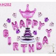 image of Princess Happy Birthday Celebration Balloon