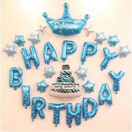 image of Prince Happy Birthday Celebration Balloon 王子
