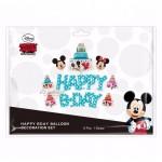 Happy Birthday BLUE Wording Disney Theme Mickey Mouse Party Balloon Set 米奇