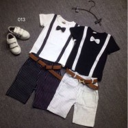 image of Gentleman Kid Boy New Fashion T-shirt Suit + Pants