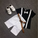 Gentleman Kid Boy New Fashion T-shirt Suit + Pants
