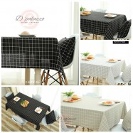 image of Elegant Cotton Linen Plaid Table Cloth Table Cover Dustproof Dinner Dinning