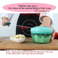 image of Multi-Functional Easy Manual Hand Pull Garlic Speedy Chopper For Garlic Vegs etc