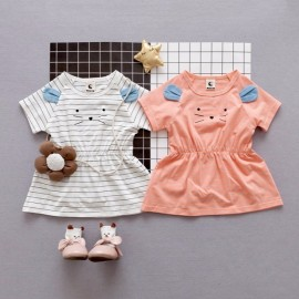 image of Little Girls' Casual Dresses Cat Printing Kids Girl Clothing