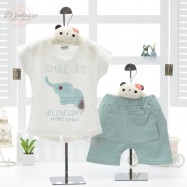 image of Baby Boy Girl Kid Child Summer Clothes Clothing Suit 2 pcs Set