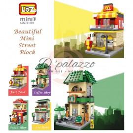 image of LOZ Mini Branded Building Block / Street Block Street View Block Mini Block