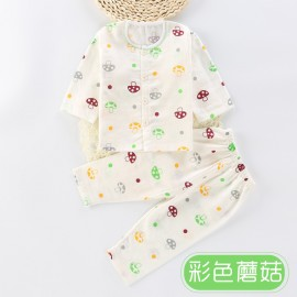 image of Baby Cotton Long-Sleeve Baby Sleeping Clothing Set
